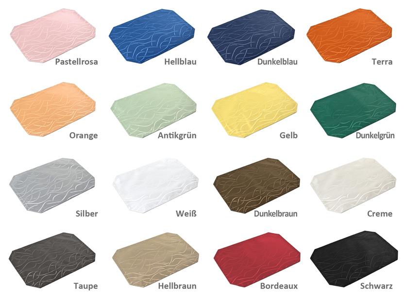 2x streifen tischset damast 30x45 farbe w hlbar beautex ebay. Black Bedroom Furniture Sets. Home Design Ideas