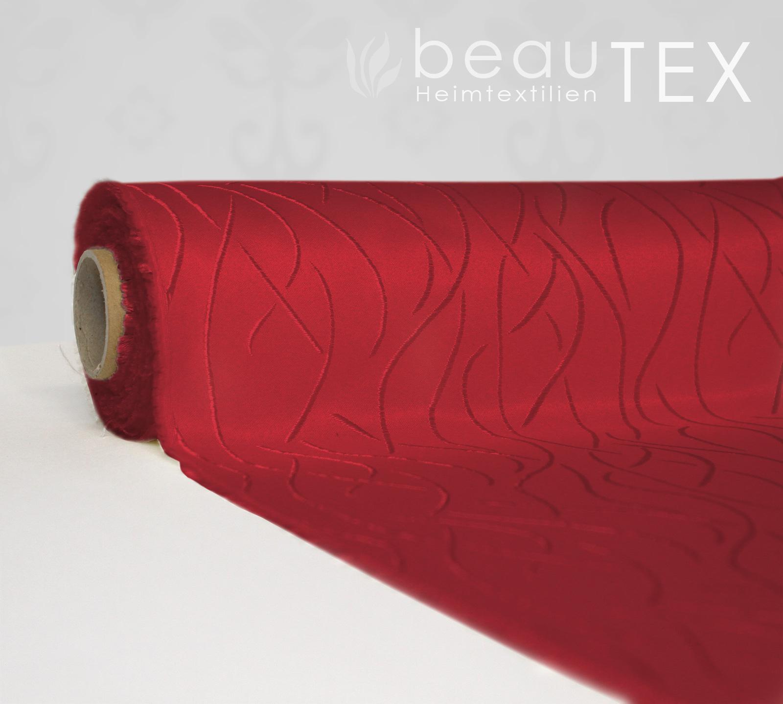 streifen wellen damast stoff meterware breite 155 cm bordeaux ebay. Black Bedroom Furniture Sets. Home Design Ideas